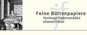 GraphikundGestaltung Christoph Fincke Kunden: Papiermanufaktur Homburg