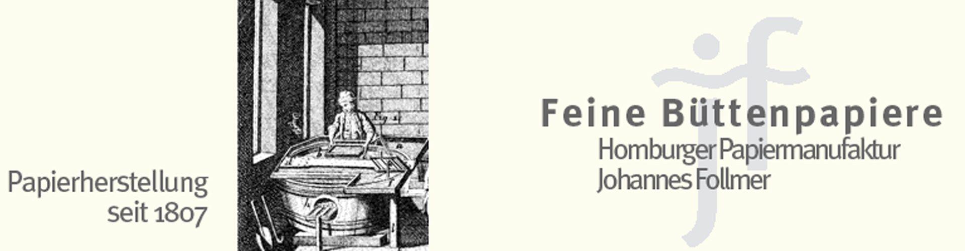 GraphikundGestaltung Christoph Fincke Kunden: Papiermanufaktur Homburg Johannes Follmer