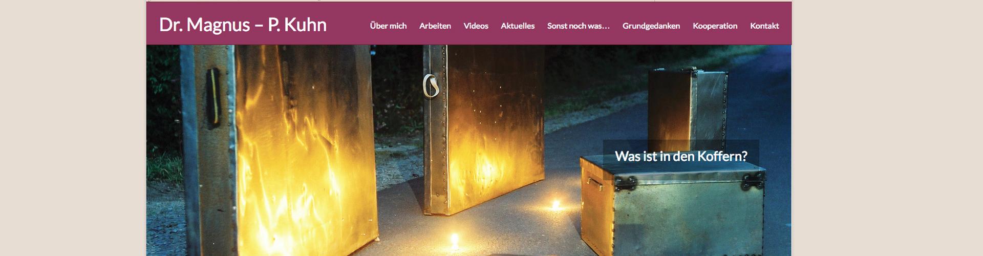 GraphikundGestaltung Grafik und Gestaltung Christoph Fincke Kunden: Magnus Kuhn Kunst&Konstruktion