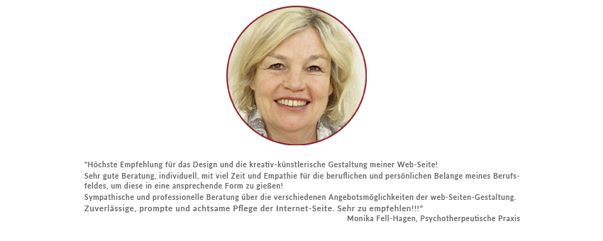 GraphikundGestaltung Büro für Grafik und Gestaltung Christoph Fincke Pschoterapeutsiche Praxis Monika Fell-Hagen