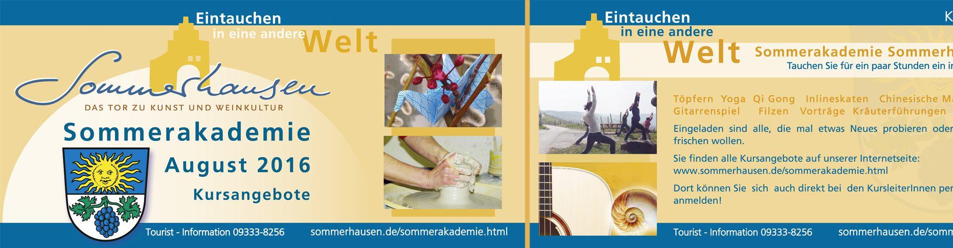 GraphikundGestaltung Grafik und Gestaltung Christoph Fincke Kunden: Gemeinde Sommerhausen am Main